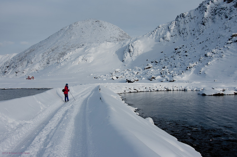 Skiing on the pier<br /> (No traffic due to road closed by avalanche)