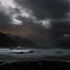 Moonlit full storm, Prestfjorden by Nyksund I