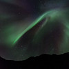 Northern lights over the mountain, Nyksund, Christmas day 2013 - III