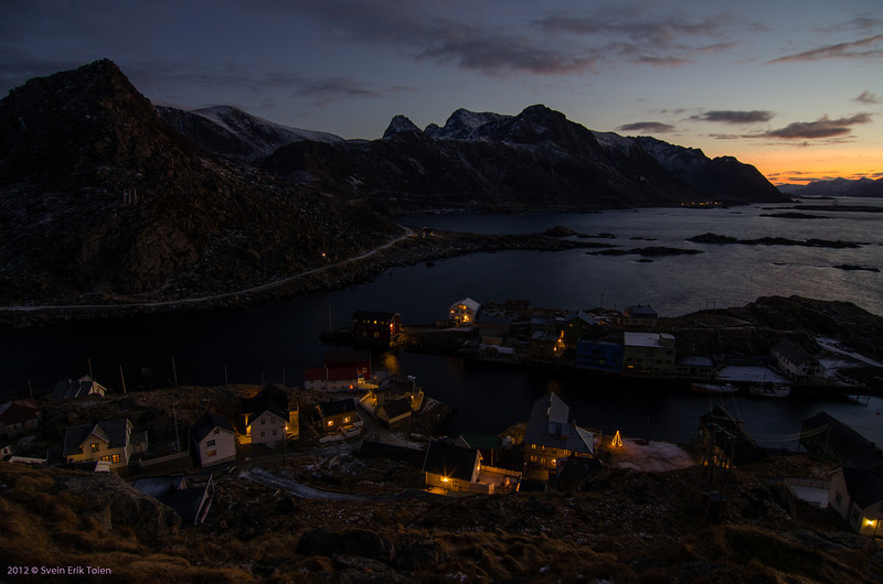 Dusk all day - <br /> from top of Nyksund island