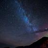 Milky Way over the ocean
