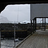 Autumn storm in Nyksund - shielding dock passage
