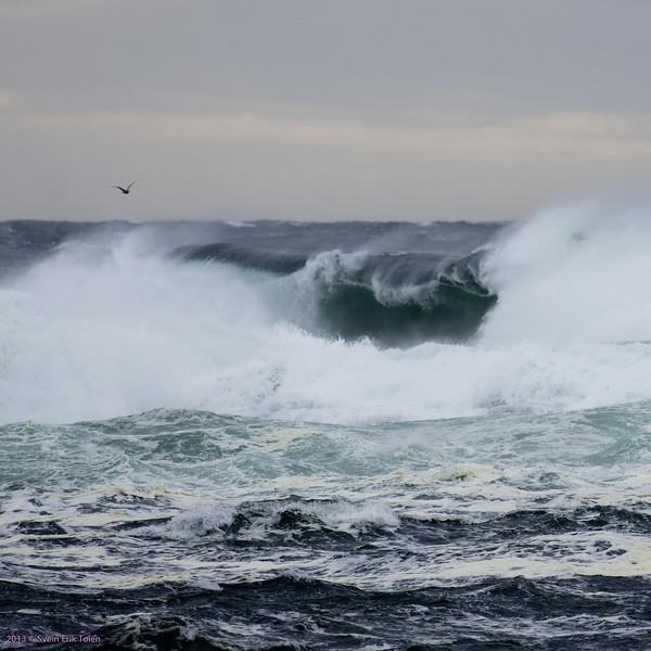 Breaking waves III<br /> Seen from Vestervika, Nyksund