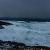 Storm squall hitting I<br /> Breakers north of the Nyksund island