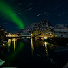 Startrails and aurora<br /> Nyksund in March