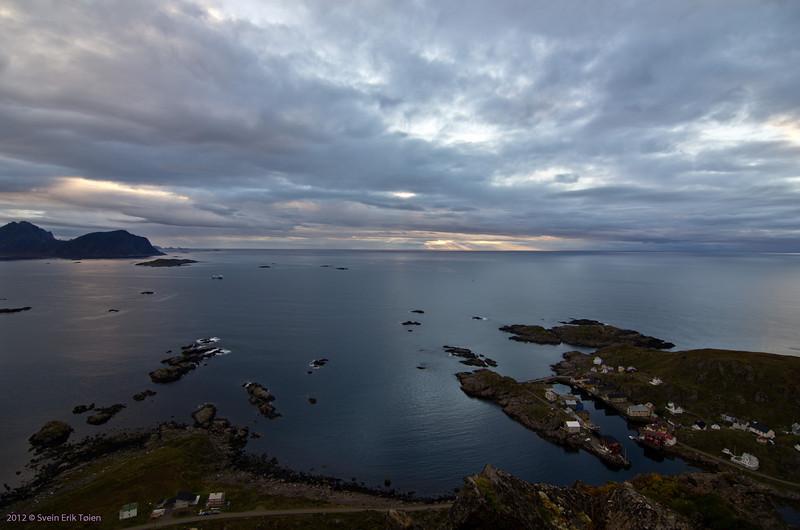 From above<br /> Skåltofta and Nyksund seen from Nyken