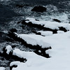 Snow, cliffs and the ocean II<br /> Shoreline by Nyksund