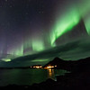 Northern lights over Nyksund, Christmas day 2013 - II
