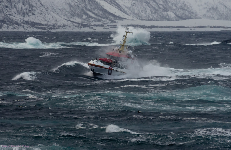 """Routine mission III<br /> Rescue vessel """"Knut Hoem"""" as local passanger shuttle to Nyksund"""