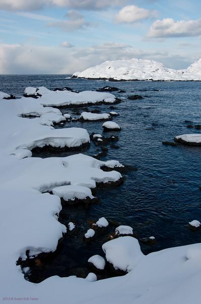Snow and high tide III<br /> Nyksund