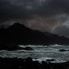 Moonlit full storm, Prestfjorden by Nyksund II