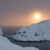 Snowy sunset<br /> View from Vestervika, Nyksund
