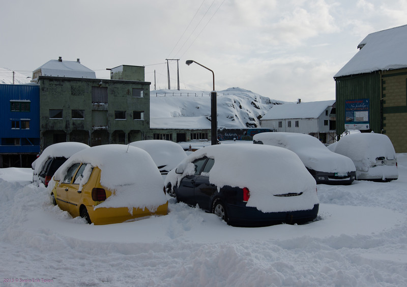Winter has taken over - 30-year record of snow in Nyksund.