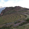 Pisac  agricultural terraces.  <br /> Elevation: 9751 ft.