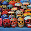 the whole city is ready for Day of the Dead, lots of stuff for sale