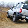 Matt's Xterra shows how things look when the suspension gets twisted