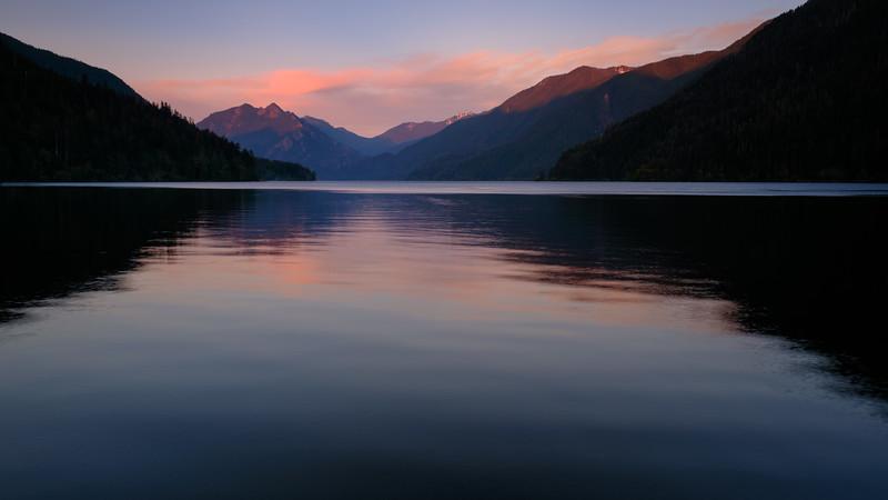 SUNSET AT LAKE CRESCENT