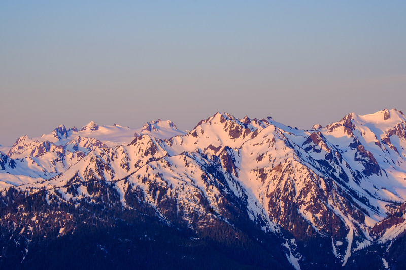 MOUNT OLYMPUS BATHED IN EARLY MORNING LIGHT