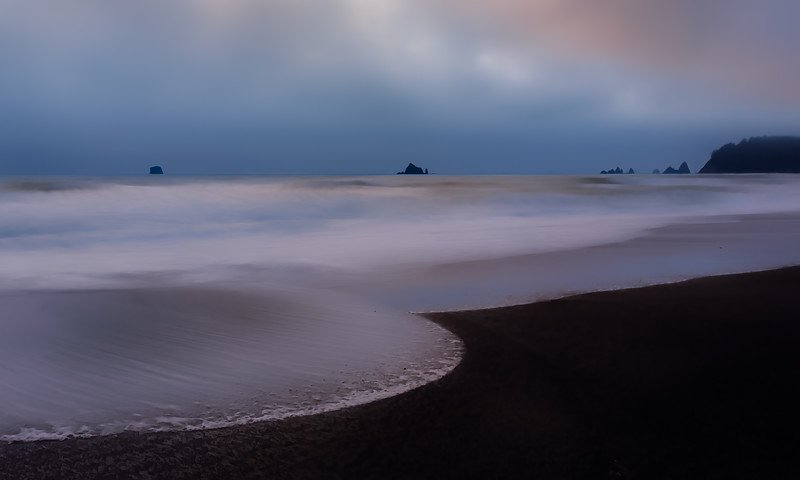 "WATCHING THE WAVES AT ""FOGGY"" RIALTO BEACH"
