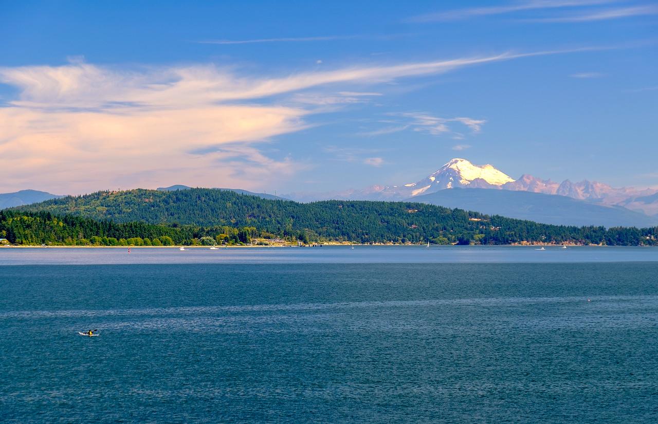 MT. BAKER AS SEEN FROM THE SAN JUAN ISLANDS