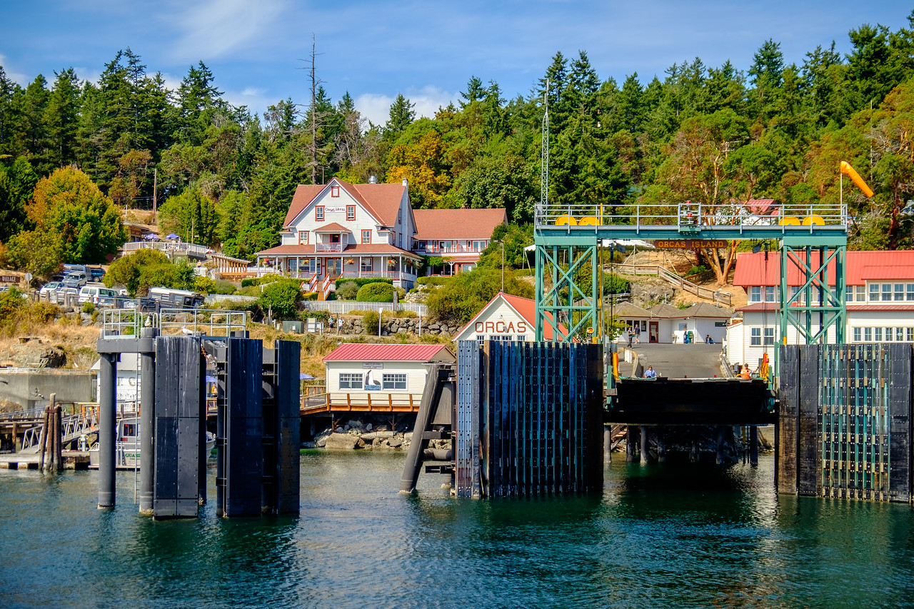 FERRY LANDING AT ORCAS ISLAND