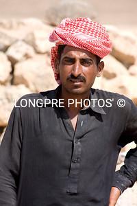 Local man, digging at KHOR RORI site.