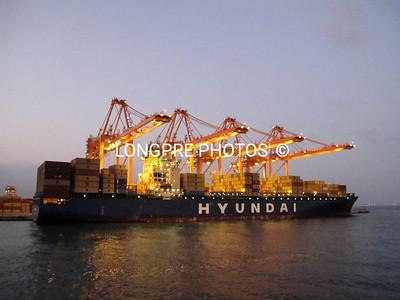 HYUNDAI ship in Port of Salalah, Oman