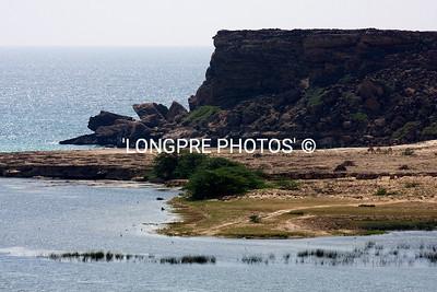 Headlands of old port of KHOR RORI.