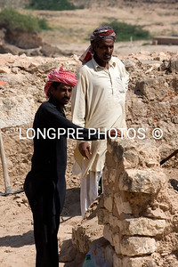 Men digging at archaeological site  KHOR RORI