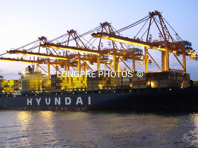 On loading frieght in Port of Salalah.