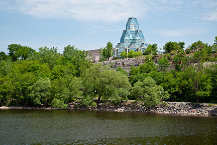 NATIONAL GALLERY OF CANADA AS SEEN FROM THE OTTAWA RIVER