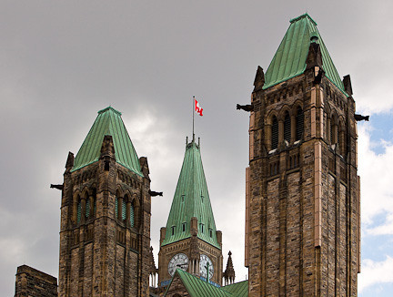 "CENTRE BLOCK ""TOWERS"" OF PARLIAMENT"