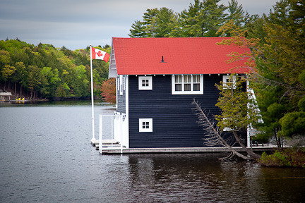 BOATHOUSE ON LAKE MUSKOKA