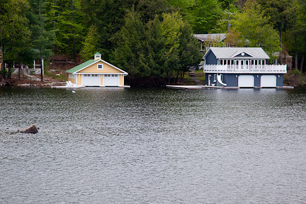 BOATHOUSES ON LAKE MUSKOKA