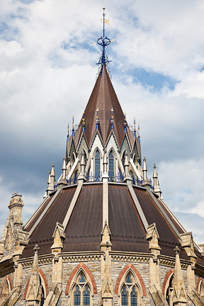 ROOF OF THE LIBRARY - CENTRE BLOCK OF PARLIAMENT