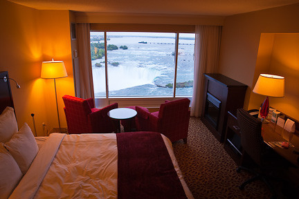 OUR HOTEL ROOM ON THE 22nd FLOOR OF THE MARRIOTT/FALLSVIEW HOTEL IN NIAGARA FALLS, ONTARIO