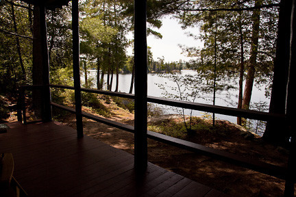 VIEW FROM CABIN PORCH AT KILLARNEY LODGE