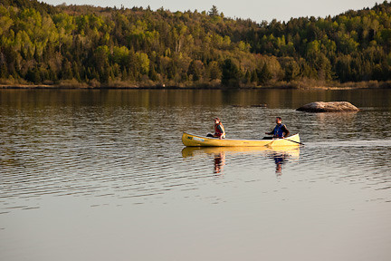 LATE AFTERNOON CANOEING - LAKE OF TWO RIVERS