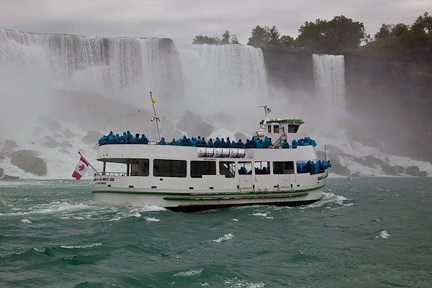 """MAID IN THE MIST"" ENROUTE TO AMERICAN AND BRIDAL VEIL FALLS"