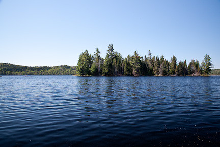VIEW FROM A CANOE - LAKE OF TWO RIVERS