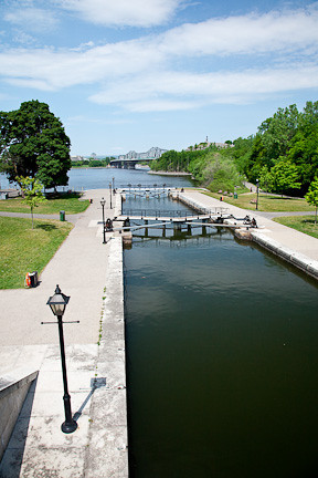 "RIDEAU ""LOCKS"" ON THE RIDEAU CANAL - OTTAWA"