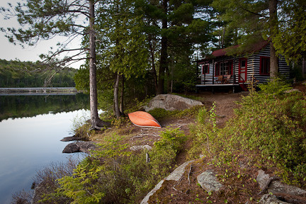 CABIN AND CANOE - LAKE OF TWO RIVERS