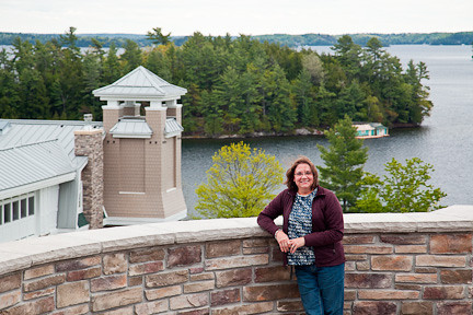 VIEW FROM THE TERRACE OF THE JW MARRIOTT HOTEL AT LAKE ROSSEAU IN MINETT, ONTARIO