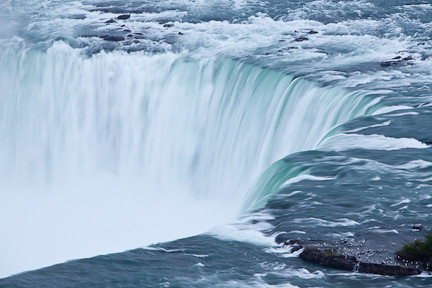 HORSESHOE FALLS AS SEEN FROM ABOVE