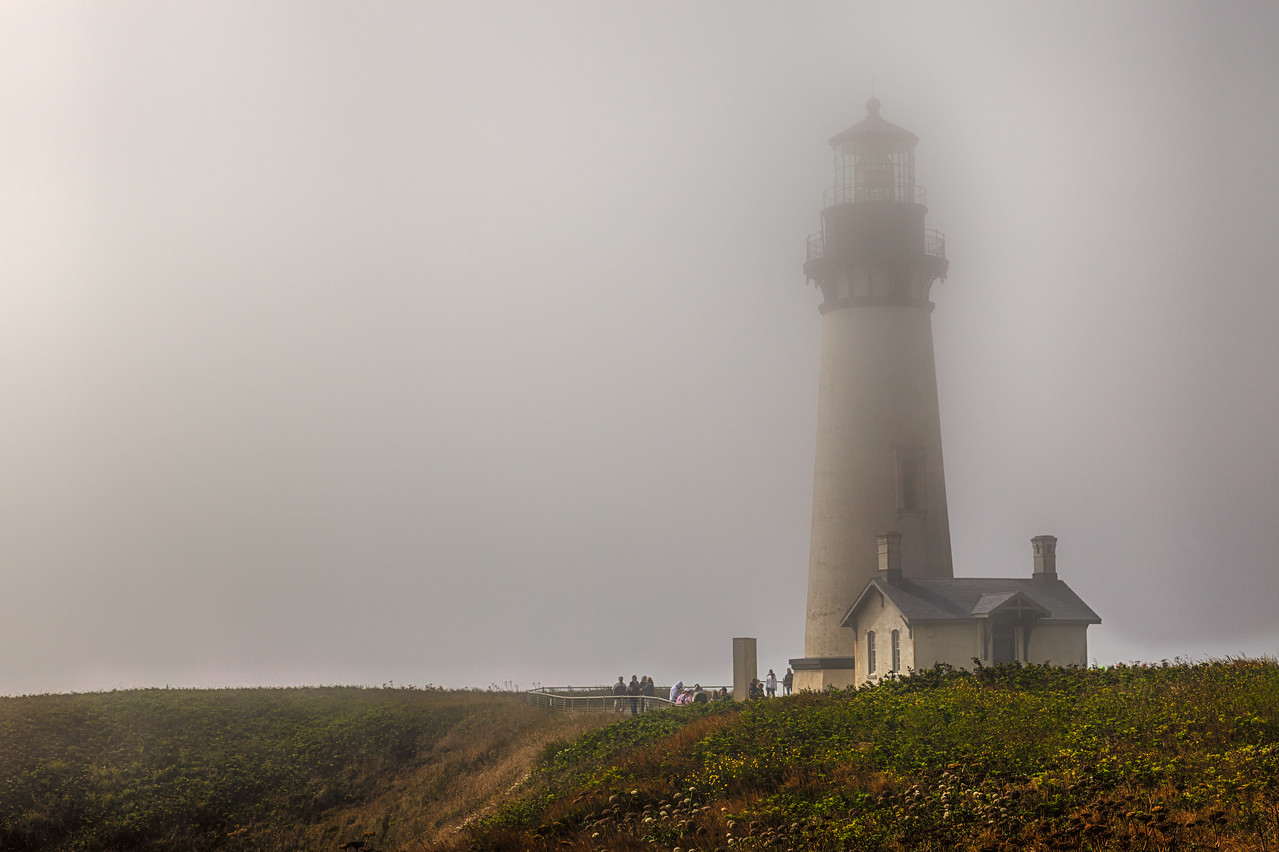"YAQUINA HEAD LIGHT ON A ""FOGGY"" AFTERNOON"