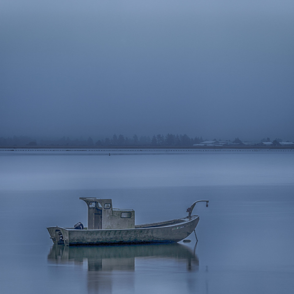 BOAT ON TILLAMOOK BAY