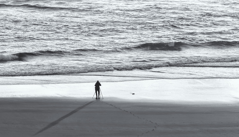 """LONE"" PHOTOGRAPHER AT BANDON BEACH"