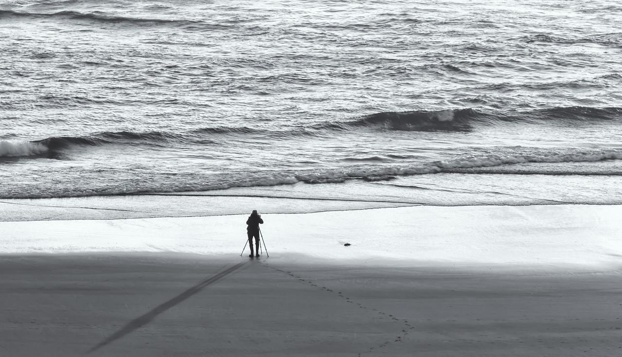"""LONE"" PHOTOGRAPHER AT BANDON BEACH"