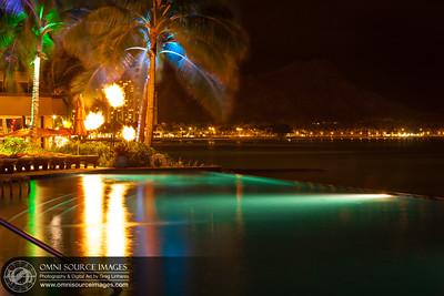 Swimming Pool at the Sheraton Waikiki.