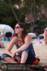 Ann's very first day at the beach on 7-8-2012 Waikiki.